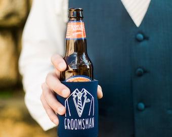 Groomsmen Wedding Favors, Can Cooler Gifts, Groomsman Gift, Beverage Insulators, Wedding Party Gifts, Wedding Accessories,