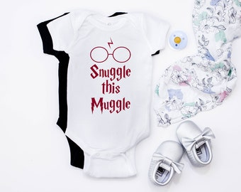 Snuggle This Muggle Onesie,Snuggle This Muggle,Muggle Baby,Harry Potter Baby Onesie,Harry Potter Baby,Harry Potter Baby Shower Gift