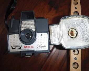 Imperial Mark XII Flash Camera and flash unit circa 1958