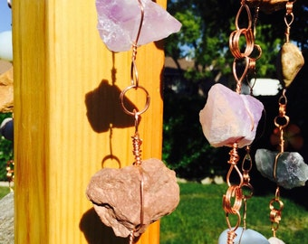 Custom Rock Chains for Patio and Garden Decorating