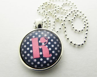 Initial Necklace - K Necklace - Pendant Necklace - Gift for Her - Gift for Him - Personalized Necklace - Letter Necklace