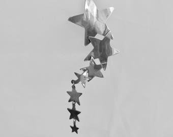 Vintage Sterling Silver Shooting Star Brooch Large Articulated Shooting Star Brooch Vintage Taxco Sterling Silver Jewelry Falling Star Pin