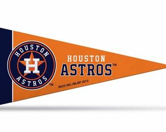 "8-Pack Houston Astros MLB Mini Pennants, 4"" x 9"""
