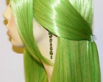 Golden Green Cats Eye Earrings