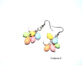 Polymer clay Easter egg earrings