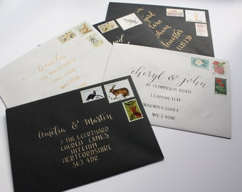 Handwritten Modern Calligraphy Envelopes