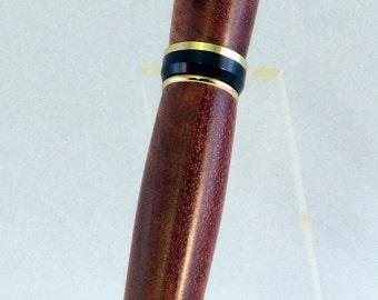 24kt Gold Cigar Twist Pen - Bubinga