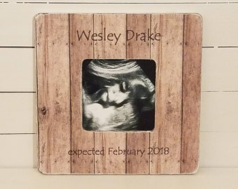 personalized sonogram frame - ultrasound frame - christmas present ideas - personalized baby gift - baby boy gift - baby girl gift