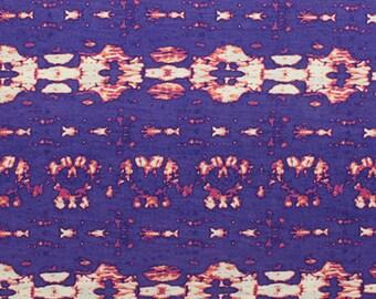 KNIT Purple Fuchsia Tie Dye Jersey Fabric, Soft Rayon Poly Blend Jersey, Super Soft Cotton Blend Sold by the Yard 5039