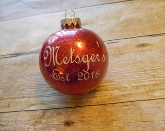 Last Name Gift. Last Name Ornament. Personalized Christmas Ornament. Wedding Gift. Housewarming Gift. Personalized Gift. Surname Gift