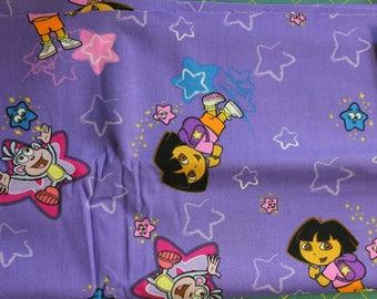 Dora 100% cotton fabric by Viacom Int