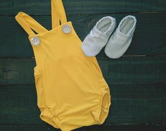 Mustard Yellow Summer Romper