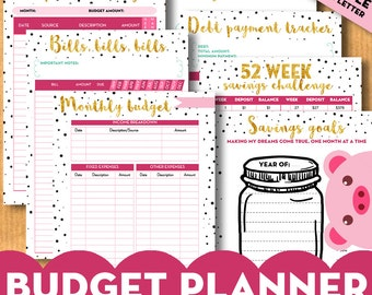 PACK - 7 Budget planner inserts, financial binder, expenses - A4, A5, US letter inserts for filofax, kikki.K - Printable Bundle