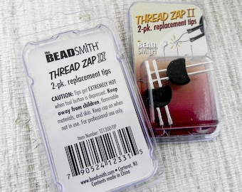 Thread Zap 2 Thread Burner Tip Replacement - 2 Pack Replacement Tip for Thread Zap II