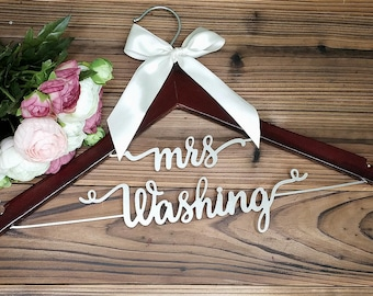 Bridal Shower Gift | Personalized Wedding Hanger | Bridal Hanger| Gift for Her | Gift for Bride | Custom Wedding Dress Hanger, MG002