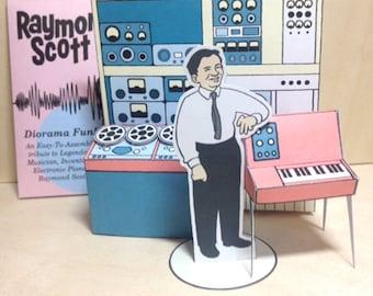 Raymond Scott Card Diorama