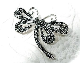 Marcasite Dragonfly Brooch Costume Jewelry Pins VA-227