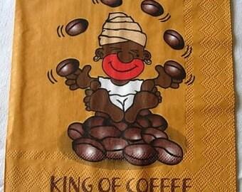 King of koffee napkin