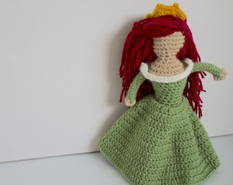 Ariel: princess doll | princess toy | mermaid toy | crochet princess doll | faceless doll | crochet for play | gift for a girl