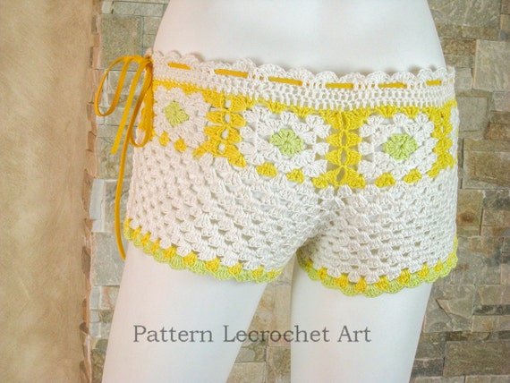 Womens Beach Shorts Pattern Crochet Pattern Beach Shorts