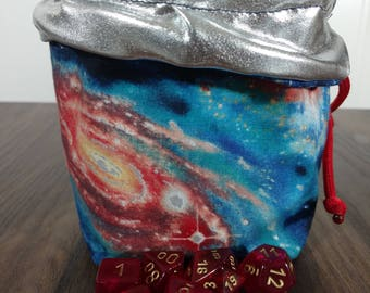 Reversible SPACE Dice Bag with Red Paracord
