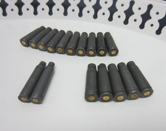 Mixed Lot of 17 Steel Aluminum Rifle Bullet Shell Casings Findings 762 x 39 Tulammo 223 Rem / Rugged spent shells findings Steampunk (115)