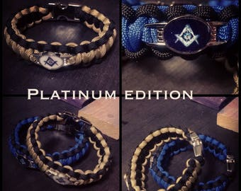 Masonic (Mason) Paracord Bracelet with stainless steel buckle