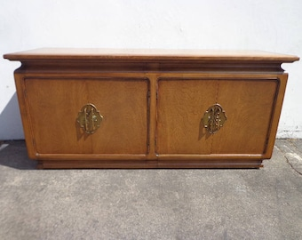 Console Cabinet Storage James Mont Asian Regency Chinoiserie Dresser Bureau Chest Drawers Media Buffet Sideboard Table CUSTOM PAINT AVAIL