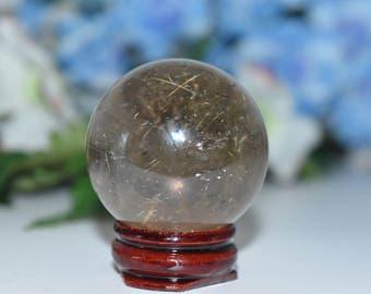 97g Golden Hair Rutiliated Inclusions Quartz Crystal- Altar Crystal, Crystal Healing, Reiki, Meditation, Crystal Grid, Spells, Protection