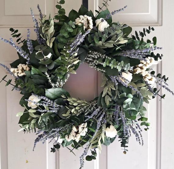 Lavender wreath, custom wreath, preserved wreath, indoor wreath, purple wreath, small wreath