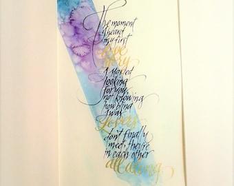 Original Calligraphy Art