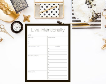 Daily Planner, Live Intentionally
