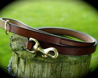 English Bridle Leather Dog Lead