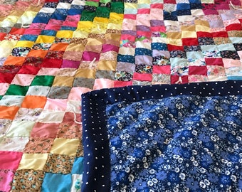 """Hand Sewn Quilt  Full Size, 2"""" Squares"""