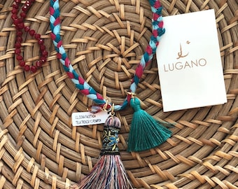 Lugano Handmade Tassel Necklace