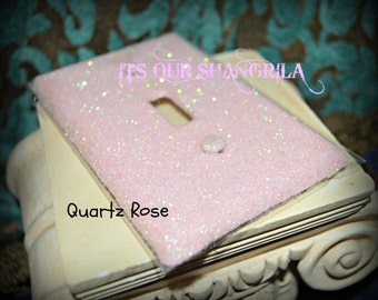 Decorative Glitter Outlet Cover ~ Dazzle'em Single Switch Plate &/or Outlet covers ~ Pretty in Pinks