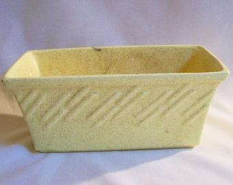 Vintage McCoy Pottery Yellow Planter Vase Collectible USA Pottery