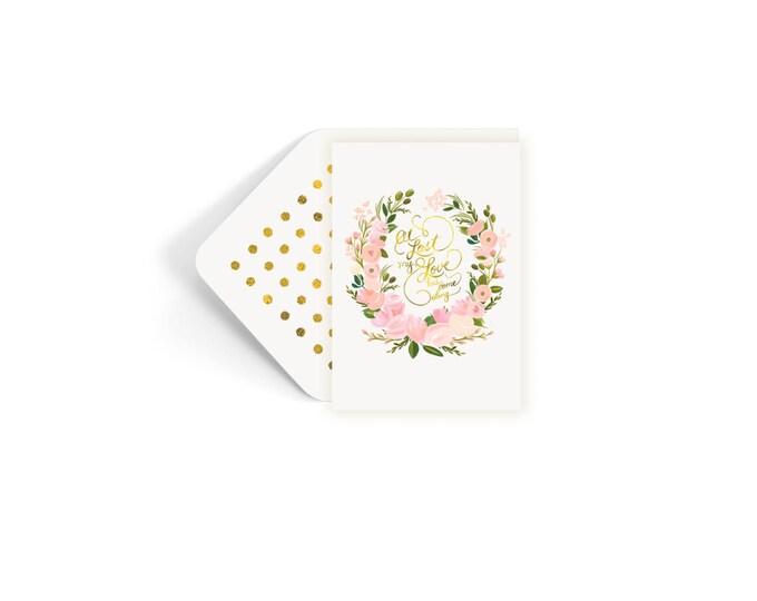 At Last Wedding Card Single Card