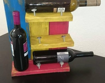 Wine rack from wood