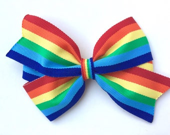 Rainbow hair bow - rainbow bow, hair bows, bows, hair bows for girls, rainbow hair bows, girls hair bows, baby bows, toddler hair bows