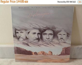 Save 30% Today Vintage 1985 Vinyl LP Record Highwayman Waylon Jennings Willie Nelson Johnny Cash Kris Kristofferson Near Mint Condition 1422