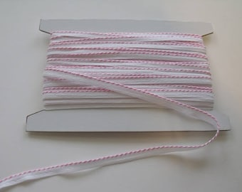 Pink Whip stitch Piping Trim - 1 Yard