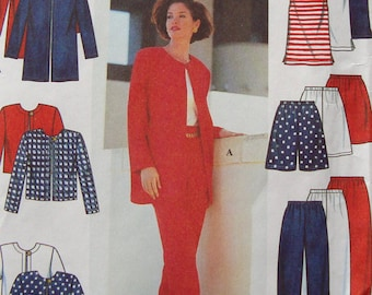 Simplicity 7249 Size XS,S,M (6-16) Misses Jacket, Pants, Shorts and Knit Top Sewing Pattern / Uncut/FF