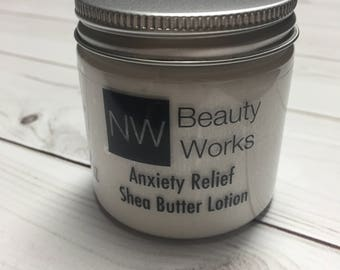 Anxiety Relief Shea Butter Lotion | TOP SELLER | Bergamot & Lavender | 4 oz | Proven to Reduce Stress, Depression and Anxiety!