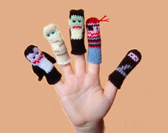 More Halloween Finger Puppet Set  (Includes Vampire, Mummy, Frankenstein, Pirate, and Ninja.) We can create custom listings.