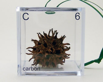 Carbon - Periodic Table of Elements Cube Ornament