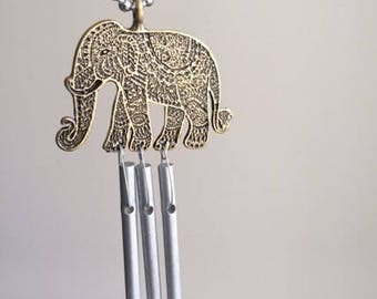 Handmade and Hand-Tuned Whimsical Elephant Car Chime