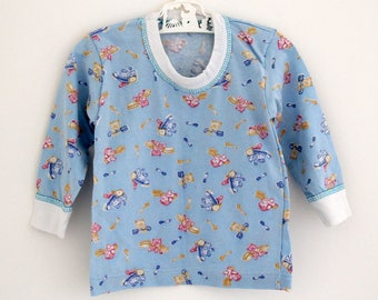 Vintage long sleeve cotton top, 6-9 months
