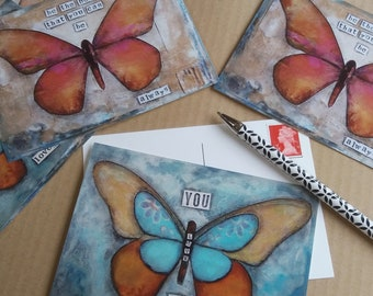 Art cards, Postcards, Notecards, Butterfly card, Inspiring cards, Stationery.