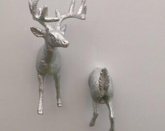 Stag deer fridge magnet photo invitation memo holder.